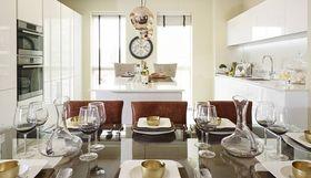 140平米三室兩廳混搭風格餐廳圖