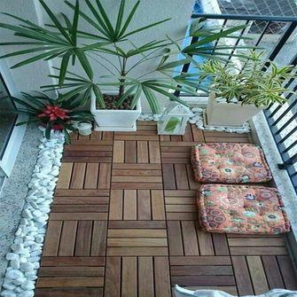 130平米三室一厅地中海风格阳台装修案例