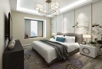 140平米三中式风格卧室图片大全