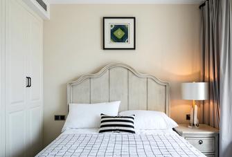 110平米三室两厅美式风格卧室装修效果图