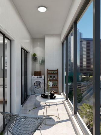 110平米三室两厅现代简约风格阳台装修图片大全