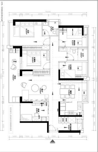 80平米三室两厅现代简约风格客厅装修案例