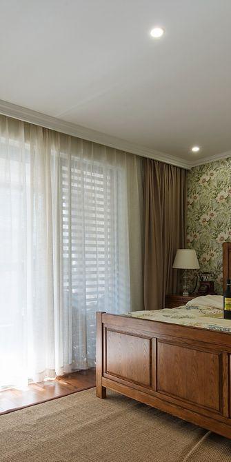 130平米三室一厅田园风格卧室装修图片大全