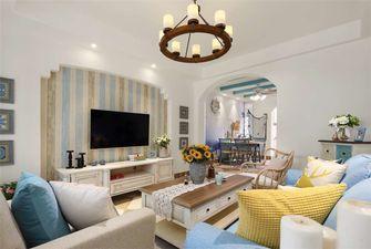 90平米三室一厅地中海风格客厅效果图