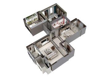 120平米三室一厅中式风格阳台装修图片大全