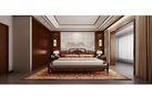 130平米三室两厅中式风格卧室设计图