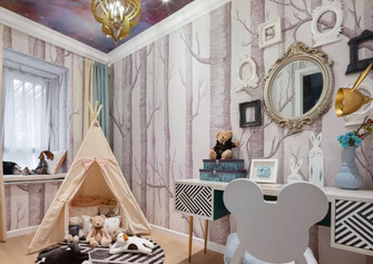 70平米法式风格儿童房图片大全