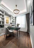 100平米三室两厅法式风格书房图