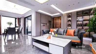 130平米四现代简约风格客厅欣赏图