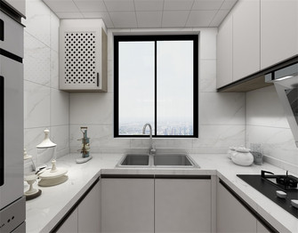 100平米现代简约风格厨房设计图