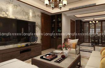 130平米三中式风格客厅装修图片大全