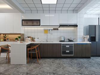 140平米现代简约风格厨房设计图