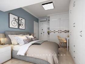 80平米三室兩廳北歐風格臥室效果圖
