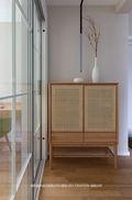 80平米三室两厅日式风格玄关欣赏图