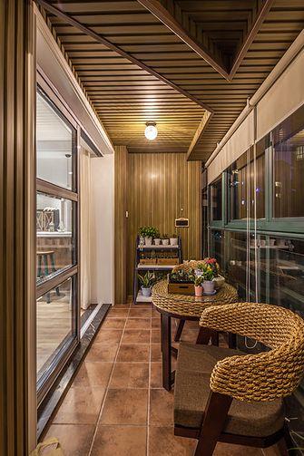 120平米三室一厅混搭风格阳台设计图