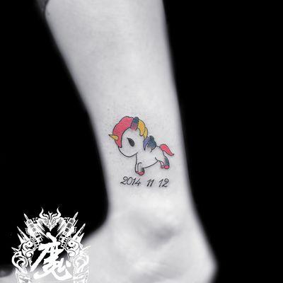 小马纹身图