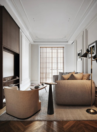 120平米四室两厅欧式风格书房效果图