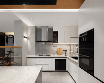 140平米四室三厅现代简约风格厨房图片大全