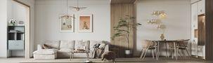 80平米三室三厅日式风格餐厅图片