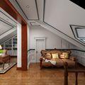 140平米复式欧式风格阁楼装修效果图