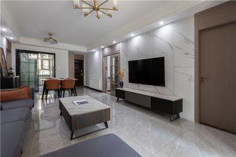130平米三室两厅混搭风格客厅装修图片大全