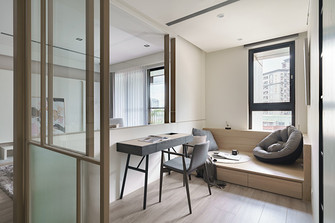 100平米三室两厅法式风格书房装修效果图