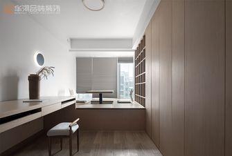 130平米三室两厅日式风格书房图