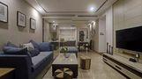 90平米三室两厅现代简约风格客厅沙发图片