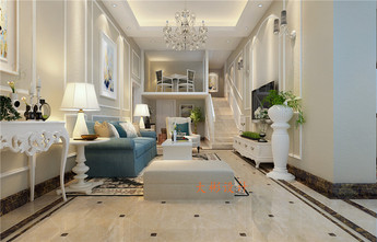 140平米复式法式风格客厅设计图