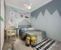 130平米三室两厅欧式风格儿童房设计图