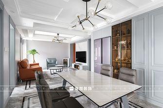 110平米三室两厅美式风格餐厅图片