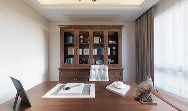 130平米复式美式风格书房图