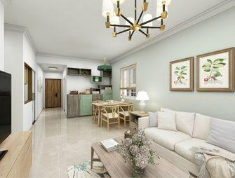 80平米三室一厅田园风格客厅欣赏图