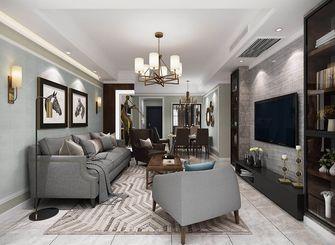 120平米三室两厅混搭风格客厅装修图片大全