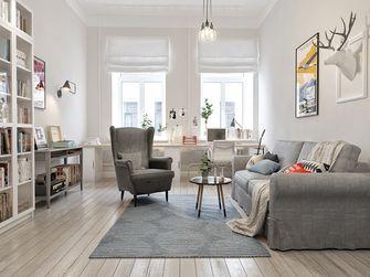 100平米三室五厅北欧风格客厅装修图片大全