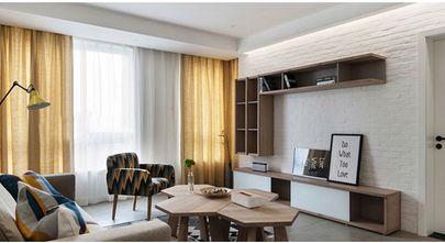 富裕型140平米三室三厅宜家风格影音室装修图片大全