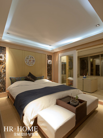 140平米三室五厅现代简约风格卧室设计图