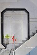 140平米别墅中式风格楼梯间装修案例
