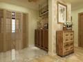 110平米三室两厅田园风格玄关设计图