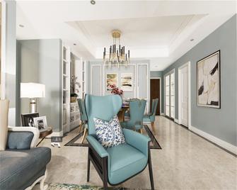 20万以上120平米三室四厅现代简约风格客厅装修效果图