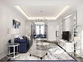 90平米三室兩廳歐式風格客廳圖片