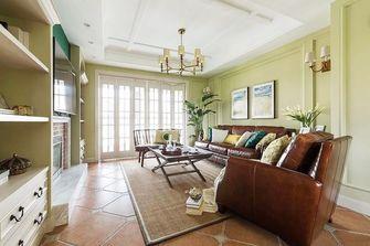 120平米三室两厅美式风格客厅装修图片大全