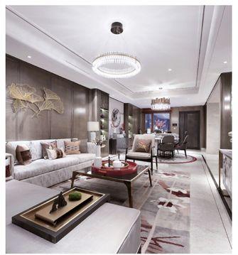 80平米三室五厅中式风格客厅图片