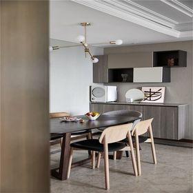 130平米四室一廳現代簡約風格餐廳裝修圖片大全