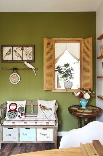 130平米一室一厅田园风格厨房装修图片大全