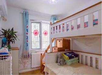 80平米北欧风格儿童房装修图片大全