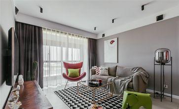 120平米三室两厅北欧风格客厅飘窗装修图片大全