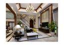 140平米别墅中式风格客厅吊顶图片