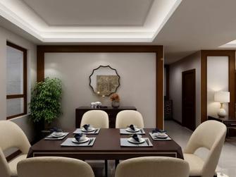 80平米三室一厅美式风格餐厅效果图