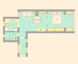 40平米小户型法式风格客厅图片大全
